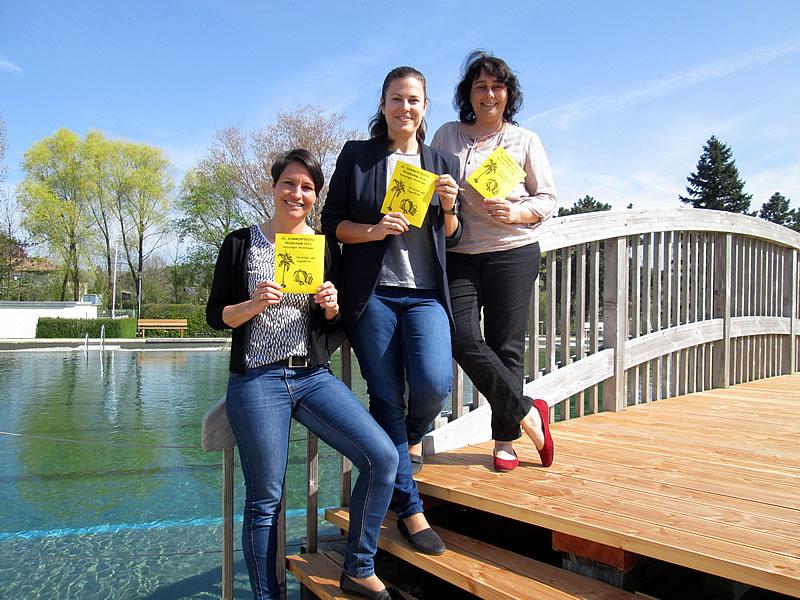 Von links: Nadine Graf, Tanja Harder und Monika de Sombre freuen sich auf das Sommerferienprogramm 2016.