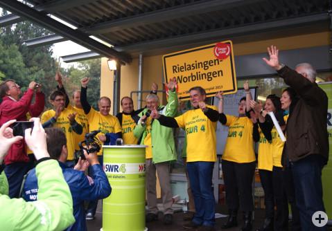 Rielasingen-Worblingen jubelt nach dem Sieg im Regionenspiel.
