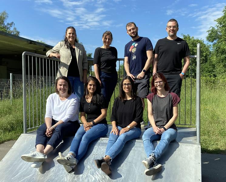 Das Kinder- und Jugendförderteam der Gemeinde: Mario Maué, Jasmin Kroner, Catia Di Fiore, Anja Kurz, Nadine Mariën, Jenny Frankenhauser und Marcus Engesser.