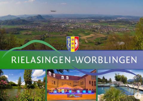 Postkarte mit Motiven aus Rielasingen-Worblingen.