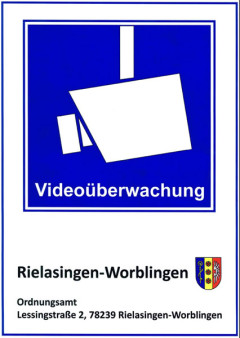Hinweisschild Videoüberwachung.