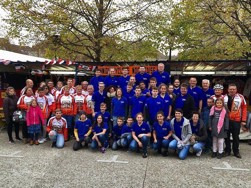 Die Mitglieder der Worblinger Jugendkapelle wurden in der Partnergemeinde Nogent-Sur-Seine freundlich aufgenommen. swb-Bild: Verein