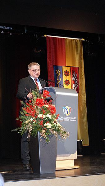 Bürgermeister Ralf Baumert bei seiner Neujahrsrede.