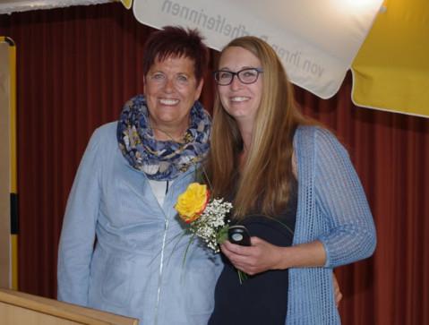 Jutta Gold (links) mit ihrer Nachfolgerin Melanie Dressnandt. swb-Bild: of