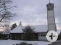 Außenansicht auf die evangelische Kirche in Rielasingen.