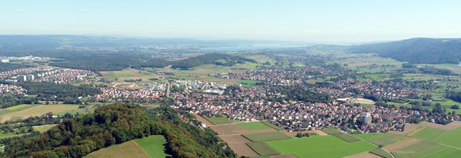 Luftaufnahme von Rielasingen-Worblingen