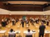 Das ging letztes Jahr nicht: der Musikverein Rielasingen-Arlen konnte seine Hauptversammlung musikalisch eröffnen - mit viel Abstand. swb-Bild: Verein