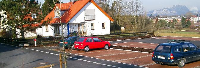 Parkplatz im Ortsteil Arlen.