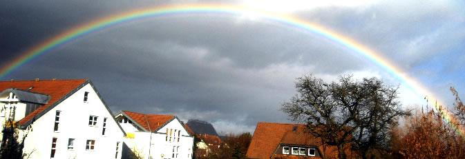 Banner Regenbogen über Rielasingen Bild: Schoch