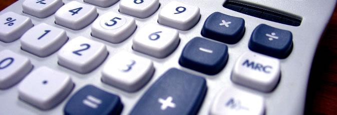 Tastatur eines Taschenrechners.