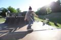Skater auf der Rampe beim Jugendcafe Juca60.