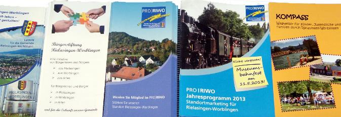 Informationsbroschüren der Gemeinde Rielasingen-Worblingen.