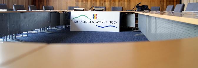 Sitzungssaal im Rathaus.