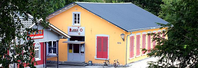 Das Gebäude Juca60 vom Rathaus aus aufgenommen