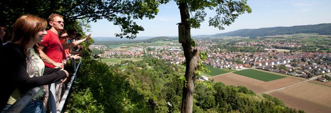 Blick auf Rielasingen-Worblingen vom Aussichtspunkt auf dem Rosenegg.