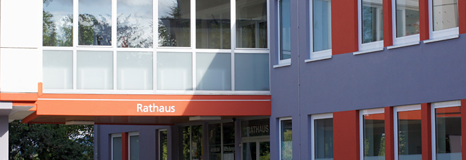 Rathaus Eingangsbereich.