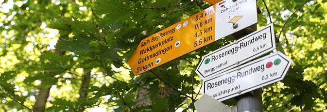 Schilder am Naturlehrpfad Rosenegg