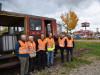 2017 endete die Fahrt der Museumsbahn noch am Singener Kreisel, wo jetzt die 80 Meter Schiene verlegt werden sollen. swb-Bild: dh/Archiv