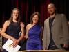 Schulpreisträgerin Diana Haug mit Schulleiterin Birgit Steiner und Klassenlehrer Ralf Bichsel. swb-Bild: of