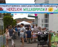 Herzlich Willkommen waren die Gäste beim Sommerfest der KITA Klangwolke in Worblingen.