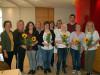 Die anwesenden JubilarInnen mit der Einrichtungsleitung im Cafe St. Verena. swb-Bild: Olma