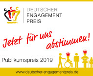 Sticker zum Deutschen Engagement Preis.