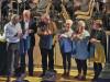Erwin Gräble, Lothar Reckziegel, Ralf Baumert, Karin Busshart, Marita Reitze und Sabine Baum konnten als LeserInnen im Konzert des Musikverein Rielasingen-Arlen glänzen. swb-Bild: of