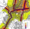 Für die Fortschreibung des Lärmaktionsplans wurden die Hauptstraßen nach einem mathematischen Modell untersucht. swb-Bild: Fichtner Water & Transportation