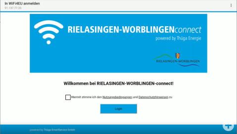 Anmeldebildschirm Rielasingen-Worblingen-connect.