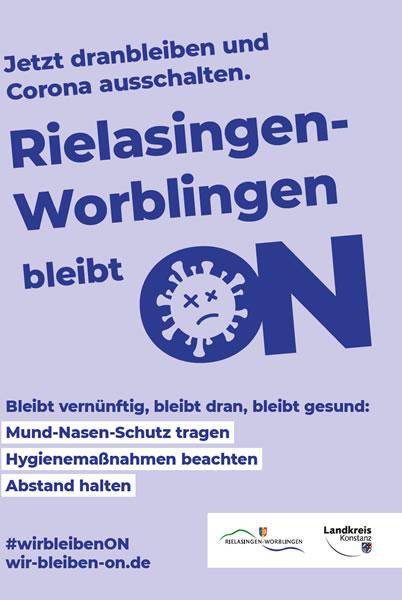 Aktionsplakat Rielasingen-Worblingen bleibt ON.
