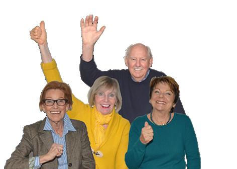 Vier Mitglieder des Ortsseniorenrates von Rielasingen-Worblingen.
