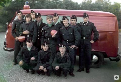 Gründung der Jugendfeuerwehr im Jahr 1971.