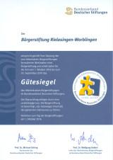 Gütesiegel des Bundesverbandes Deutscher Stiftungen.