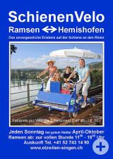 Plakat zum SchienenVelo der Museumsbahn.