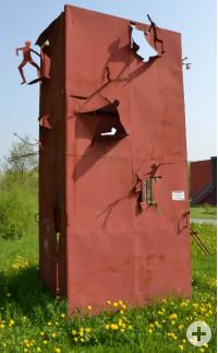 Skulptur Sortie de Prison von Louis Perrin. Bild: Marcus Schwarz.