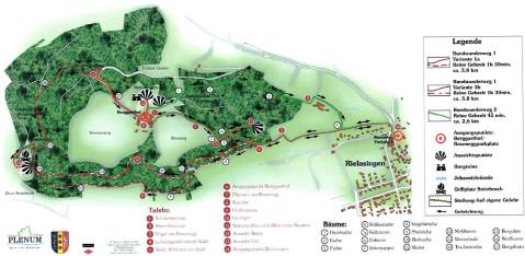 Eine Übersichtskarte vom Naturlehrpfad Rosenegg.
