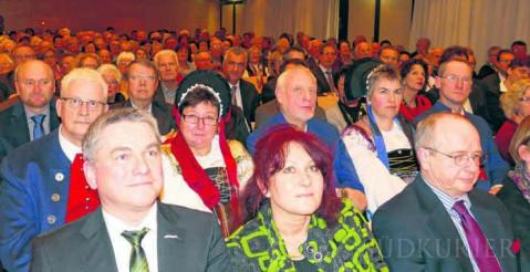 Die Talwiesenhalle war beim Neujahrsempfang der Gemeinde Rielasingen-Worblingen gut besucht. Im Mittelpunkt stand die bewegte Ortsgeschichte der Hegaugemeinde.