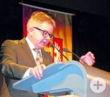 Landtagspräsident Guido Wolf während seiner Rede beim Neujahrsempfang.