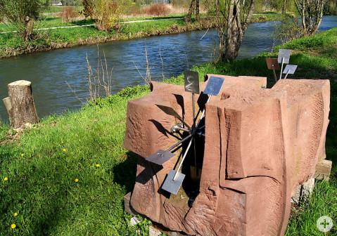Die Wasserskulptur von Helmut Pink.