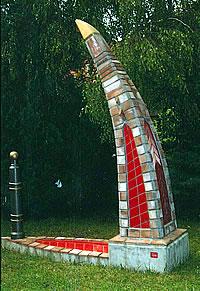 Eine Skulptur von Helmut Haitz