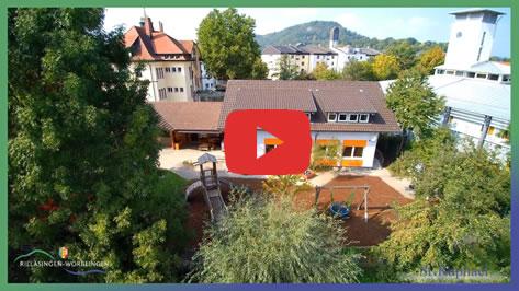 Bild aus dem Imagefilm über das Kinderhaus St. Raphael in Rielasingen.