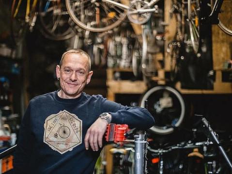 Recycelt alt Fahrräder, Martin Scheunemann. swb-Bild: pr