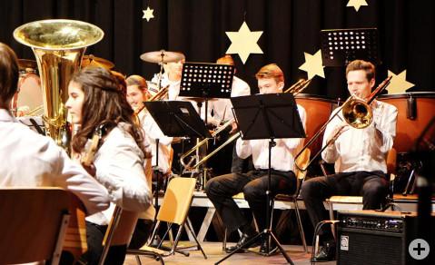 Die Jugendklasse des MV Worblingen ließ das Publikum spüren, mit welch großer Freude sie musizierten. Bild: Sirgune Piorreck