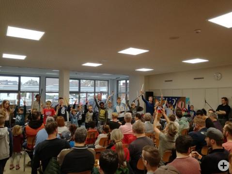 """Viele Besucher beim ersten """"Bodensee Drum Day"""" an der Ten-Brink-Schule"""
