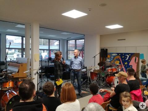 Eröffnung des Bodensee Drum Day durch die Rektorin Frau Steiner