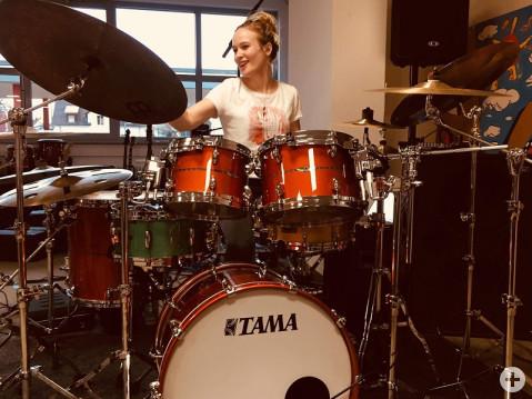 Schlagzeugerin bei Bodensee Drum Day