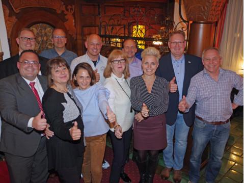 Der neu gewählte und bestätigte Vorstand des HGV Rielasingen-Worblingen. swb-Bild: of
