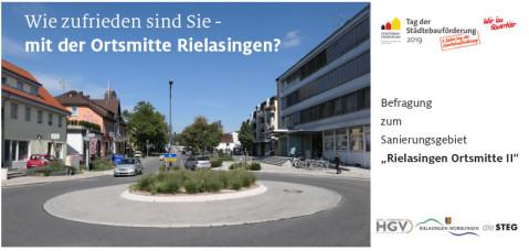 Deckblatt der Bürgerbefragung zum Sanierungsgebiet Rielasingen Ortsmitte II.