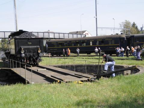 Der Fahrtag der Museumsbahn stieß auf großes Interesse. swb-Bild Museumsbahn