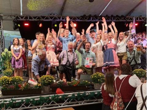 Große Freude über den Erfolg beim Musikverein Rielasingen-Arlen. swb-Bild: Verein